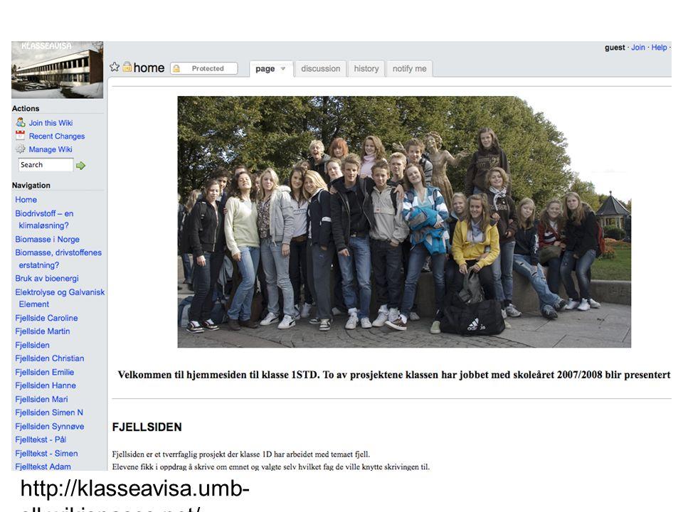 http://klasseavisa.umb- sll.wikispaces.net/