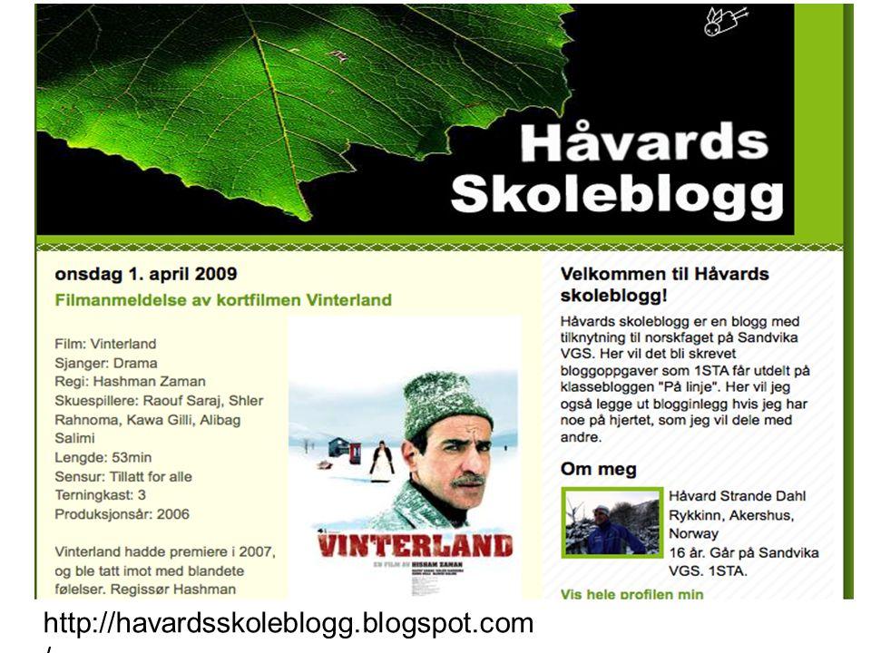 http://havardsskoleblogg.blogspot.com /