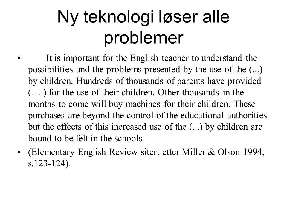 Lærer vi mer? •Skoletiden har økt •Mengden av formalisert læring har økt •Men får vi plass til mer i hodet? –Eller lærer vi på andre måter?