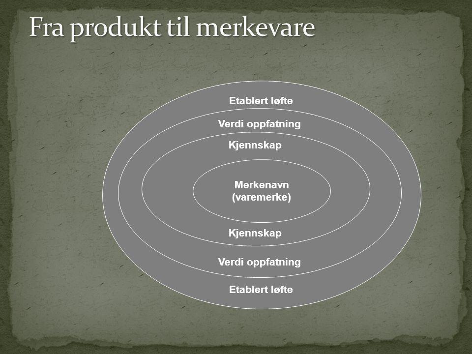 Etablert løfte Verdi oppfatning Kjennskap Merkenavn (varemerke)