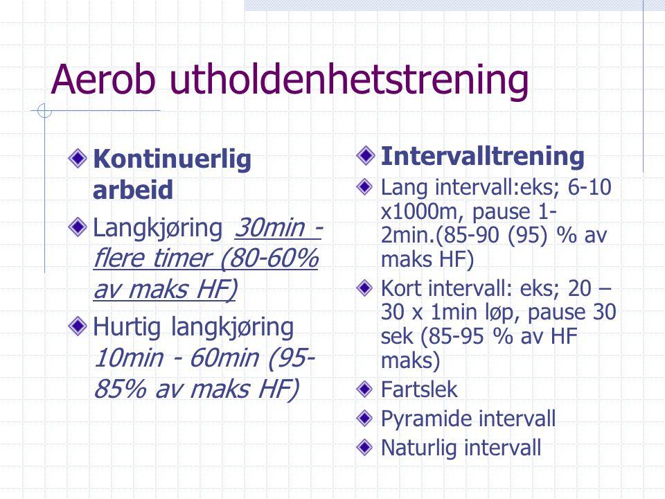 Intensitetsmåling i utholdenhetsidrett Hjertefrekvens -% av maks HF (maks = 220-alder) Intensitet i forhold til pulsreserve (pulsres. = maksHF- hvile
