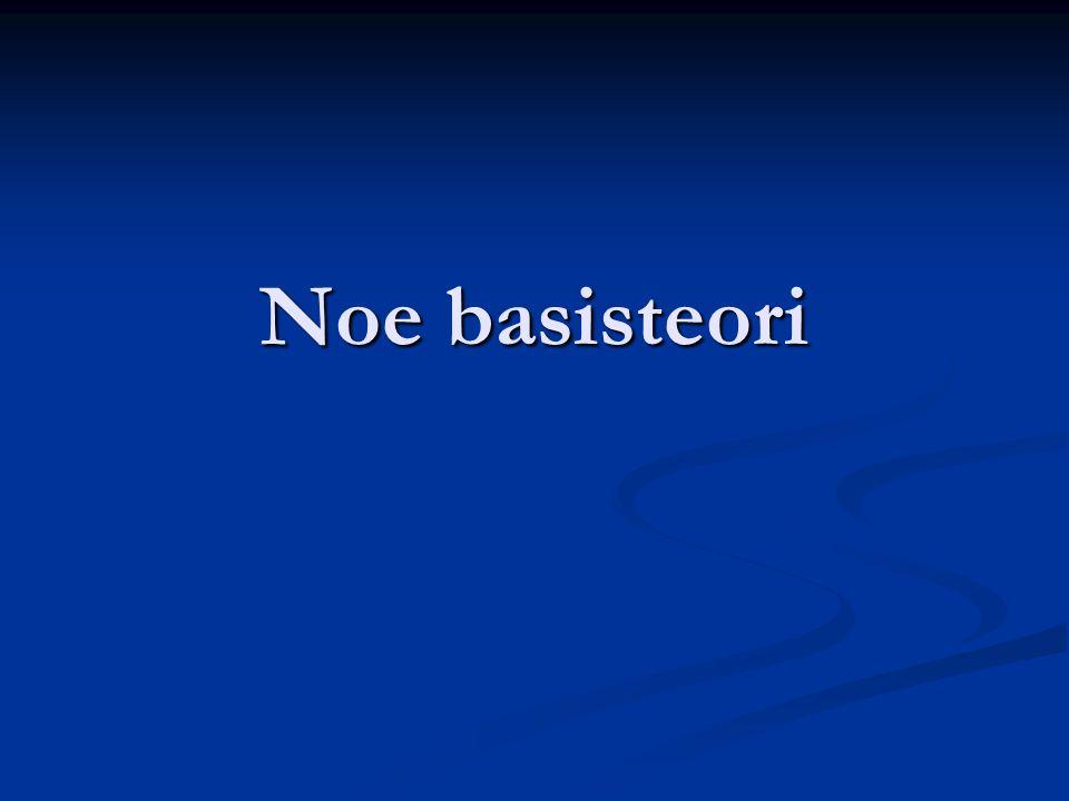 Noe basisteori