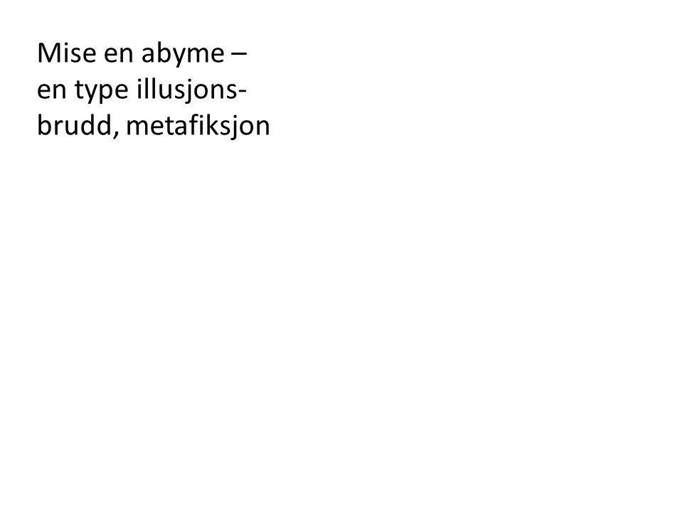 Mise en abyme – en type illusjons- brudd, metafiksjon