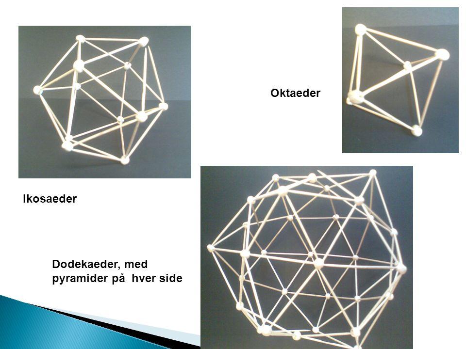 Ikosaeder Oktaeder Dodekaeder, med pyramider på hver side