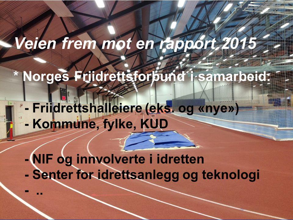 28 Friidrettshallkonsept for NOR - 2015 Veien frem mot en rapport 2015 * Norges Friidrettsforbund i samarbeid: - Friidrettshalleiere (eks.