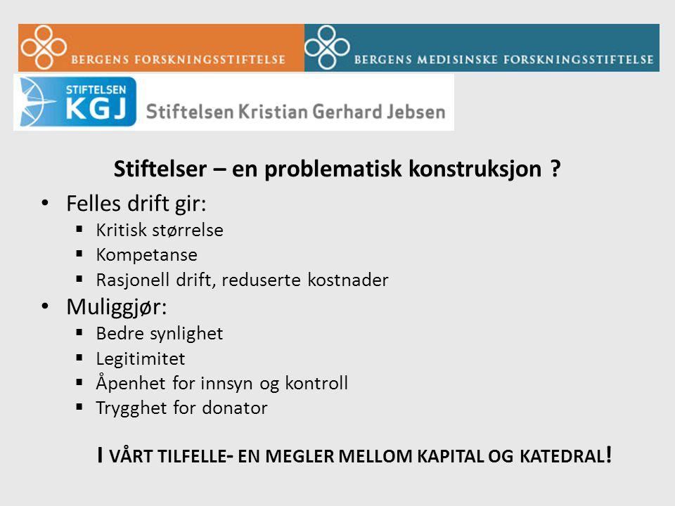 Stiftelser – en problematisk konstruksjon .