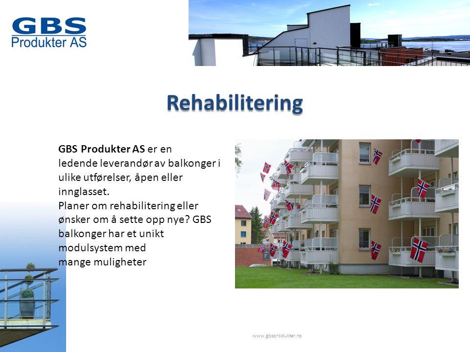 Rehabilitering GBS Produkter AS er en ledende leverandør av balkonger i ulike utførelser, åpen eller innglasset.
