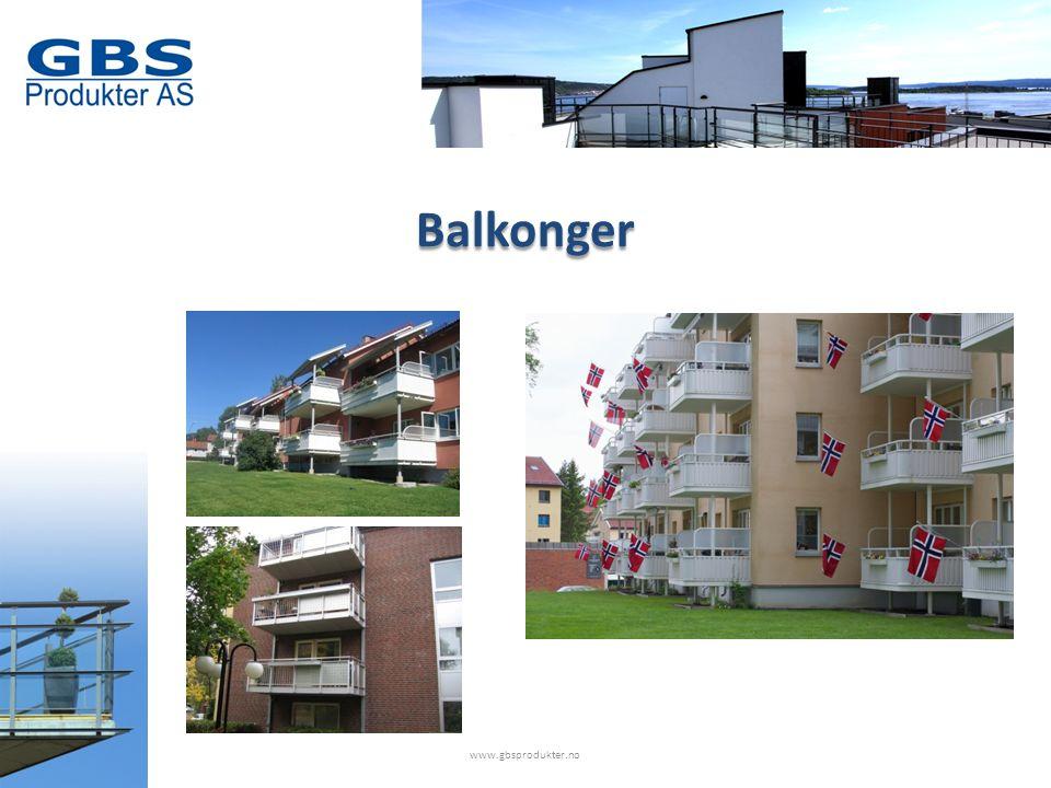 www.gbsprodukter.no Balkonger