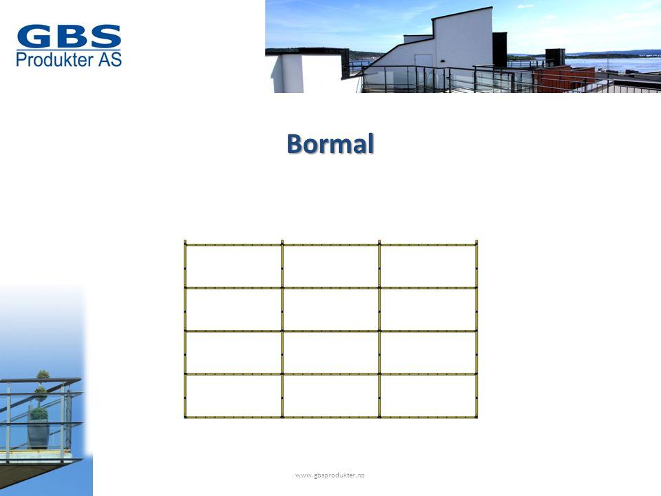www.gbsprodukter.no Bormal