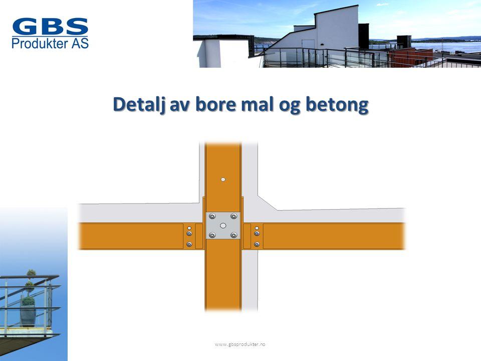 Detalj av bore mal og betong