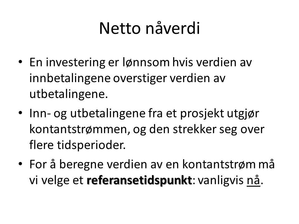 Økonomisk levetid Eks.