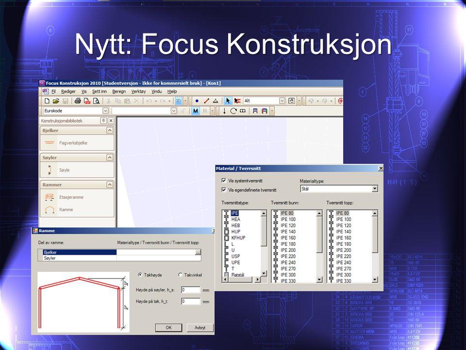 Nytt: Focus Konstruksjon