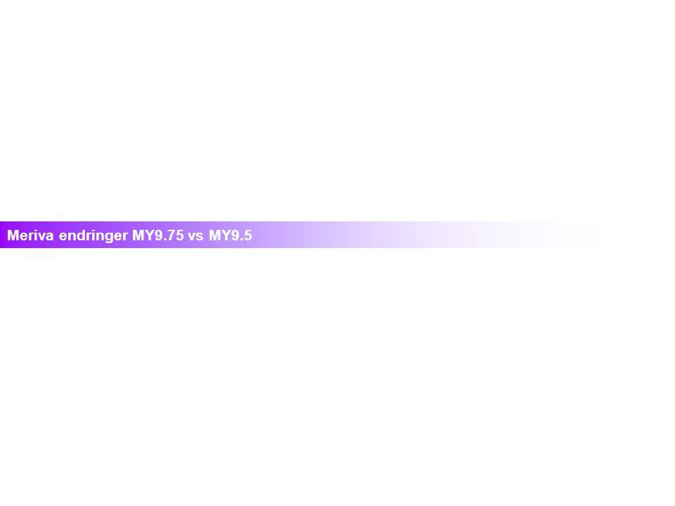 Meriva endringer MY9.75 vs MY9.5