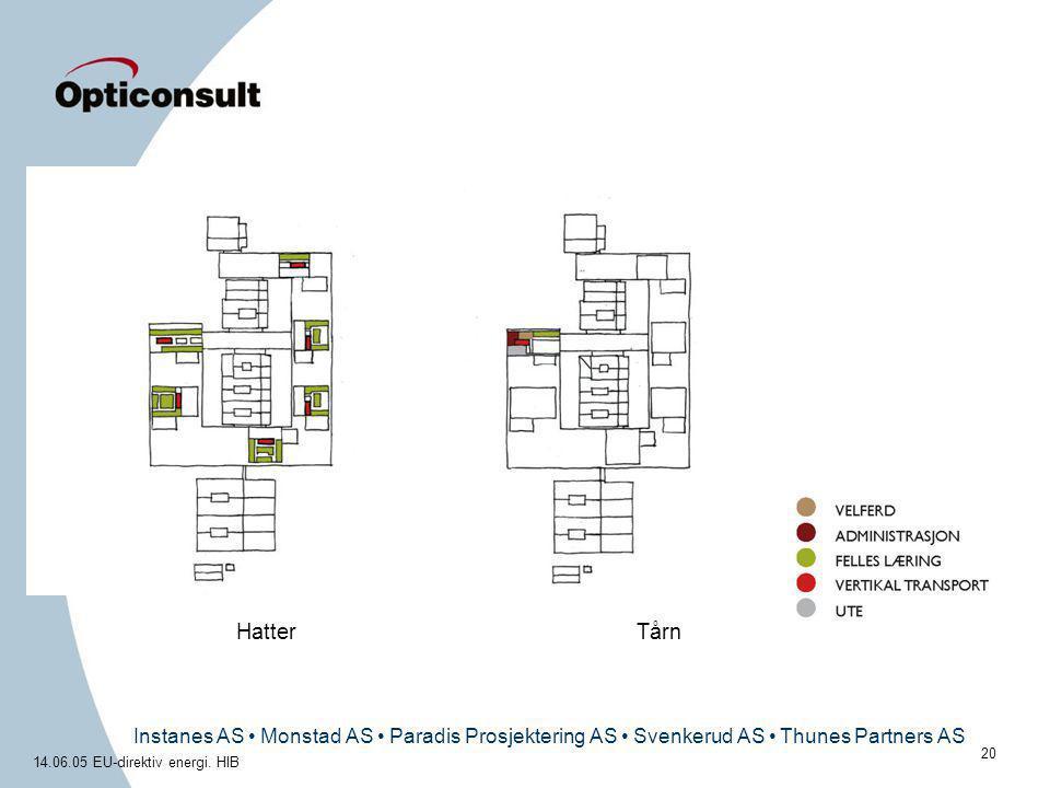 Instanes AS • Monstad AS • Paradis Prosjektering AS • Svenkerud AS • Thunes Partners AS 14.06.05 EU-direktiv energi. HIB 20 HatterTårn