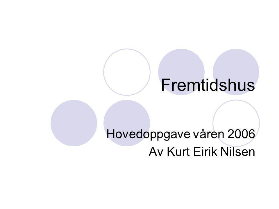 Fremtidshus Hovedoppgave våren 2006 Av Kurt Eirik Nilsen