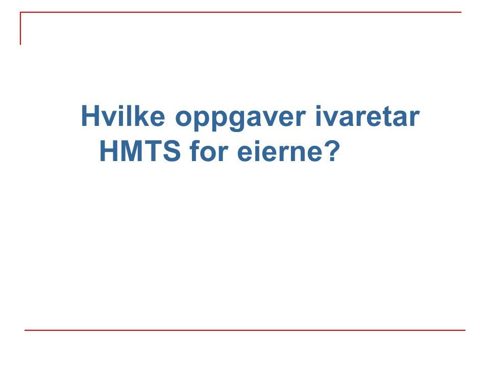 Hvilke oppgaver ivaretar HMTS for eierne