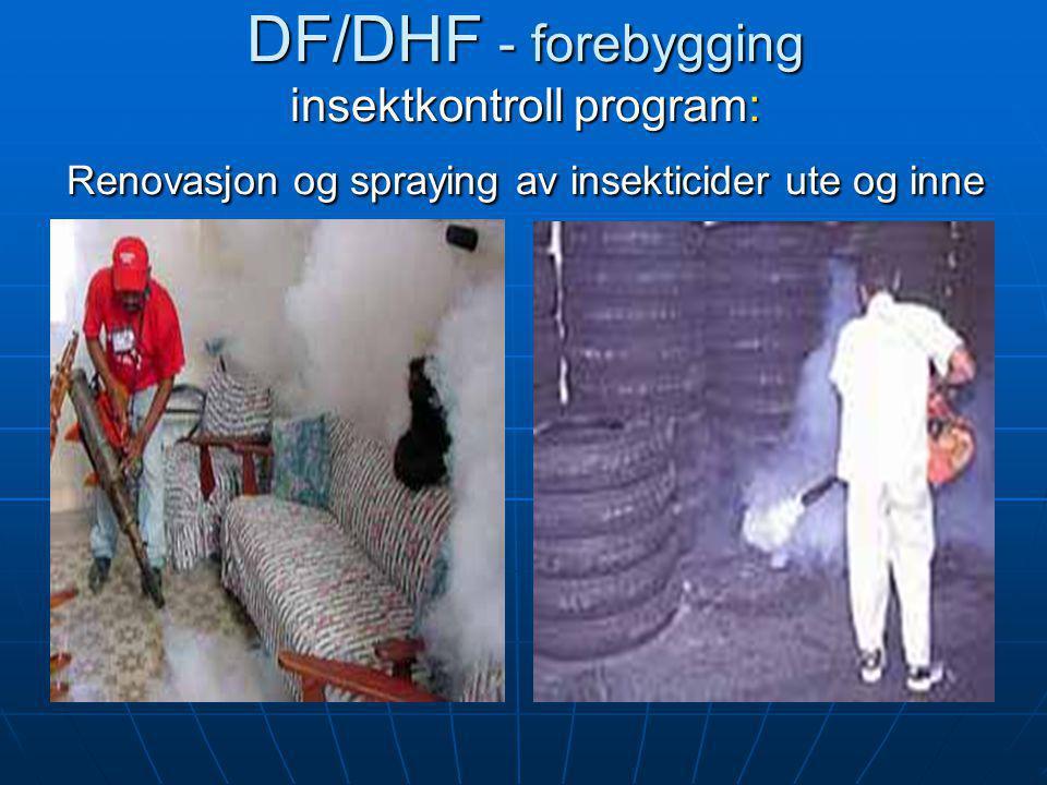 DF/DHF - forebygging insektkontroll program: Renovasjon og spraying av insekticider ute og inne