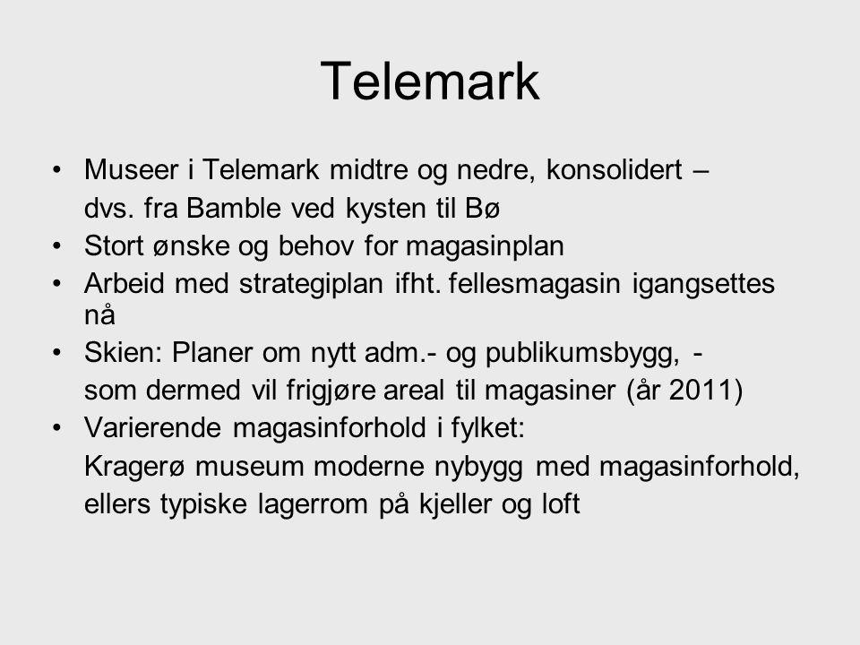 Telemark •Museer i Telemark midtre og nedre, konsolidert – dvs.