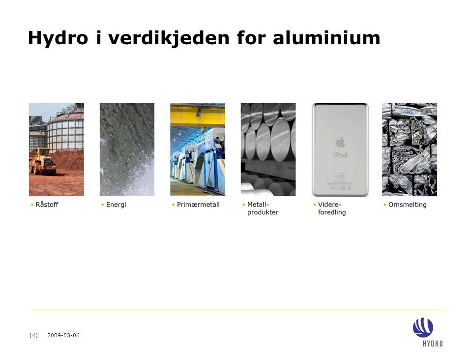 (15) 2009-03-06 Aluminium vokser mer enn globalt BNP Aluminium consumption Real GDP PPP 19701985200020071990199519751980 ( 1970=1) Kilder:WBMS, IAI, Global Insight, WMM, McKinsey analysis