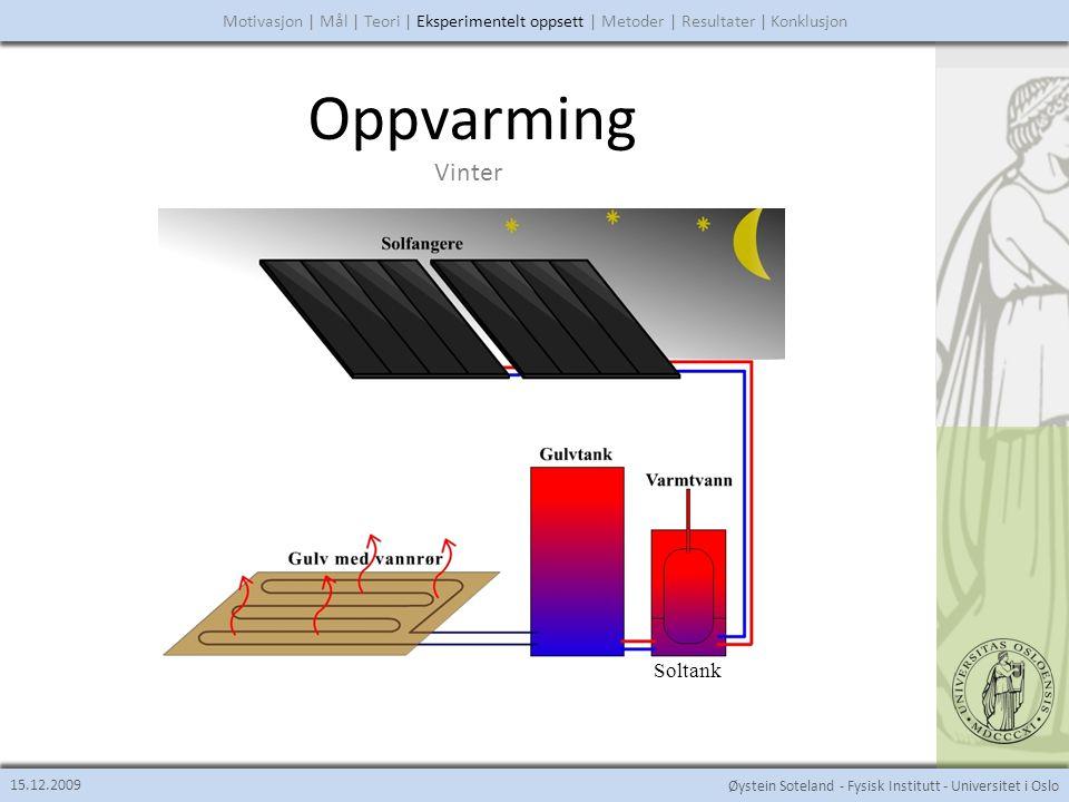 Øystein Soteland - Fysisk Institutt - Universitet i Oslo Kjøling 15.12.2009 Motivasjon | Mål | Teori | Eksperimentelt oppsett | Metoder | Resultater | Konklusjon Sommer
