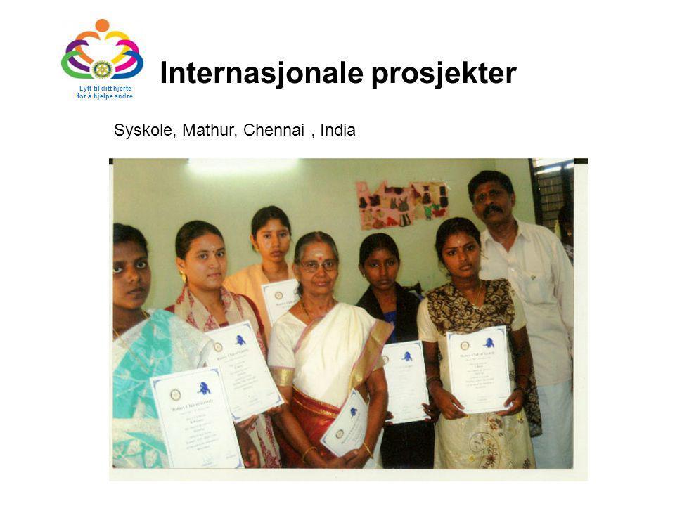 Internasjonale prosjekter Lytt til ditt hjerte for å hjelpe andre Syskole, Mathur, Chennai, India