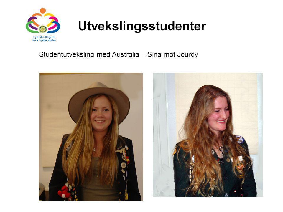 Utvekslingsstudenter Studentutveksling med Australia – Sina mot Jourdy Lytt til ditt hjerte for å hjelpe andre