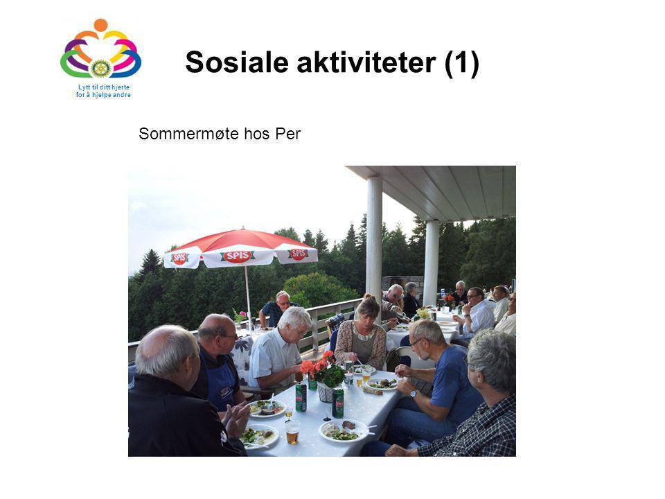 Sosiale aktiviteter (1) Sommermøte hos Per Lytt til ditt hjerte for å hjelpe andre