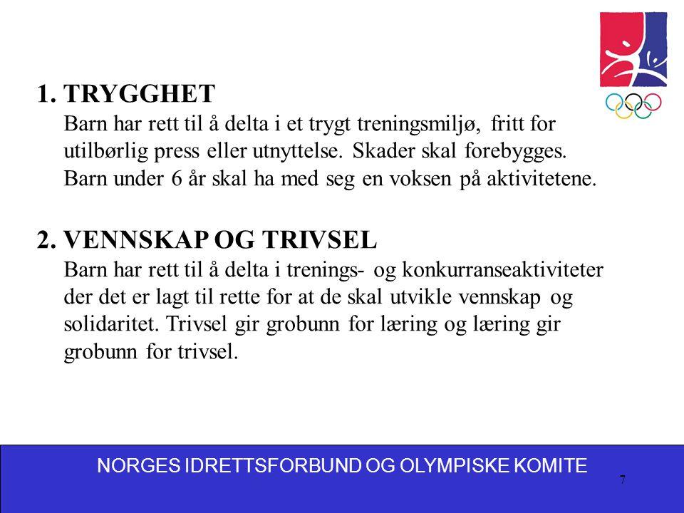 NORGES IDRETTSFORBUND OG OLYMPISKE KOMITE 7 1.