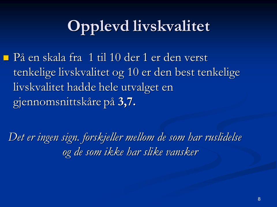 39 Konklusjoner  Få pasienter med dobbeldiagnose ruslidelse PF  Øke opp andelen.