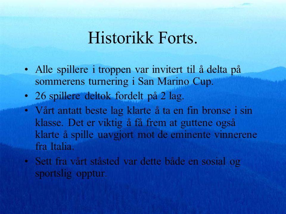 Historikk Forts.