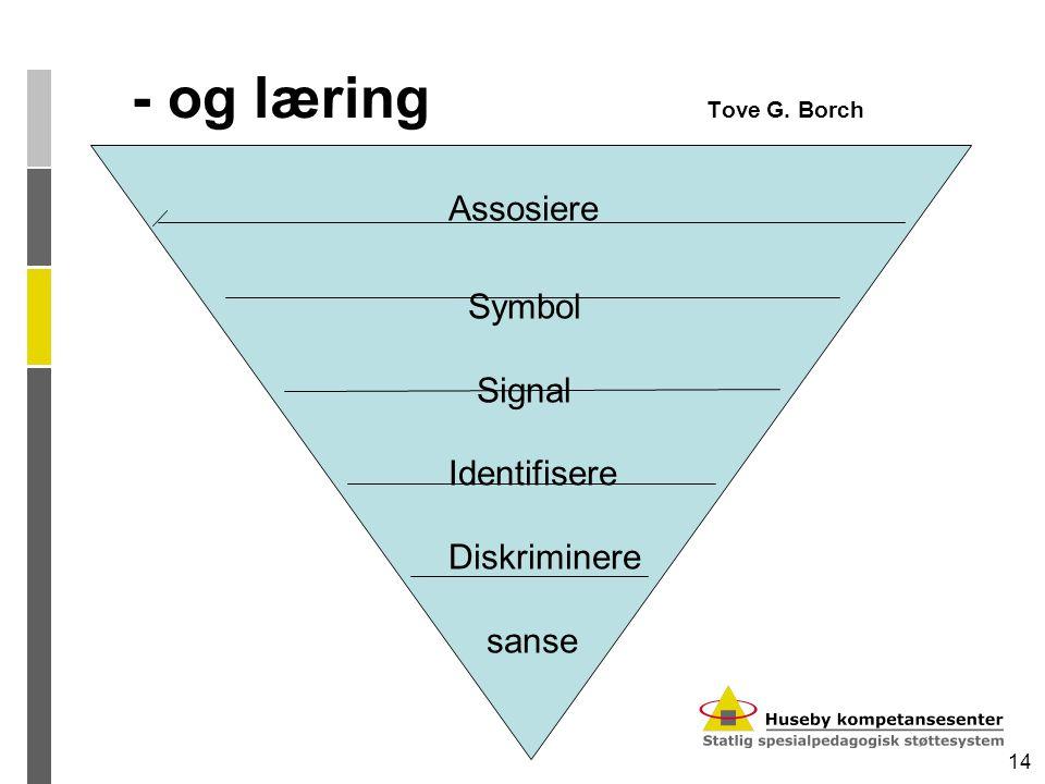 14 - og læring Tove G. Borch Assosiere Symbol Signal Identifisere Diskriminere sanse