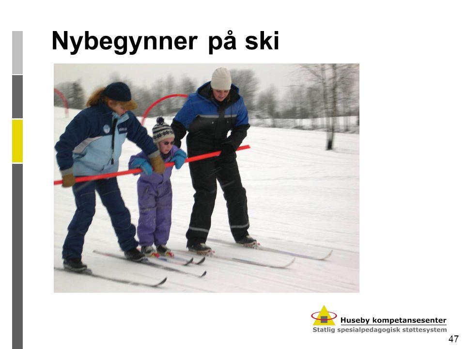 47 Nybegynner på ski