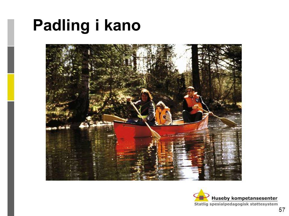 57 Padling i kano