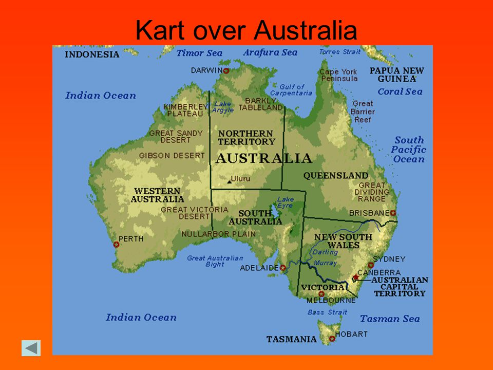 Kart over Australia