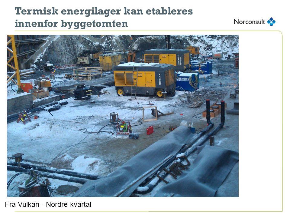 Termisk energilager kan etableres innenfor byggetomten Fra Vulkan - Nordre kvartal
