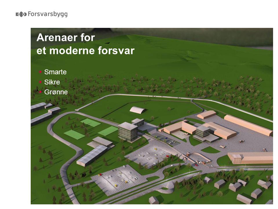 Arenaer for et moderne forsvar  Smarte  Sikre  Grønne