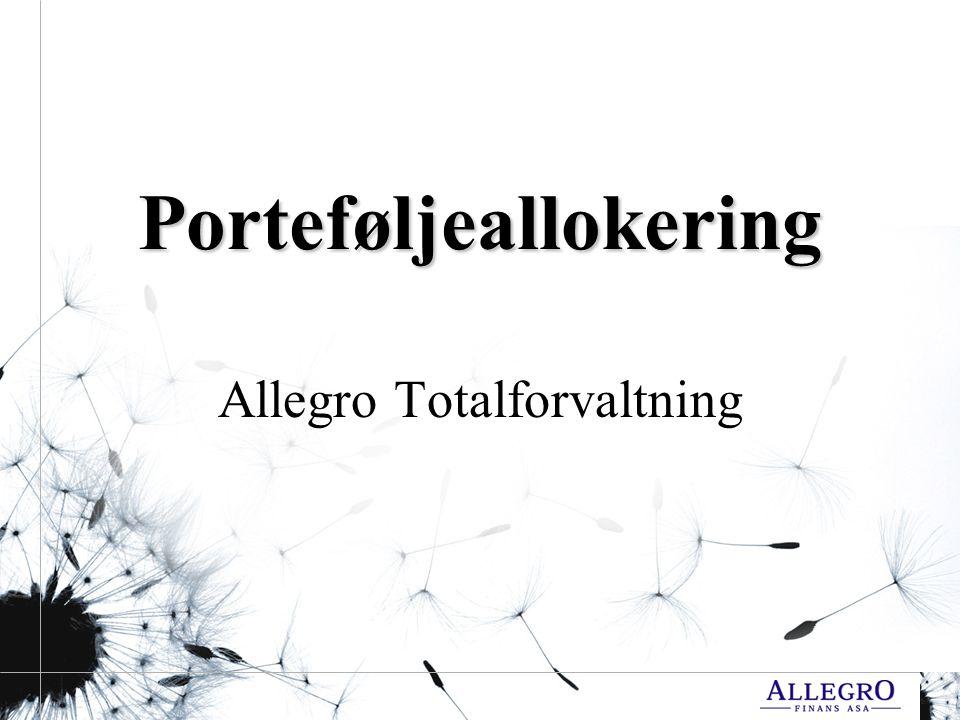 Porteføljeallokering Allegro Totalforvaltning