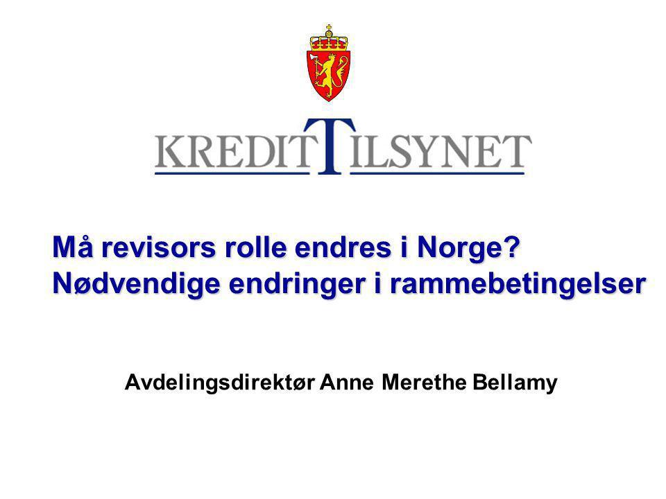 Må revisors rolle endres i Norge.