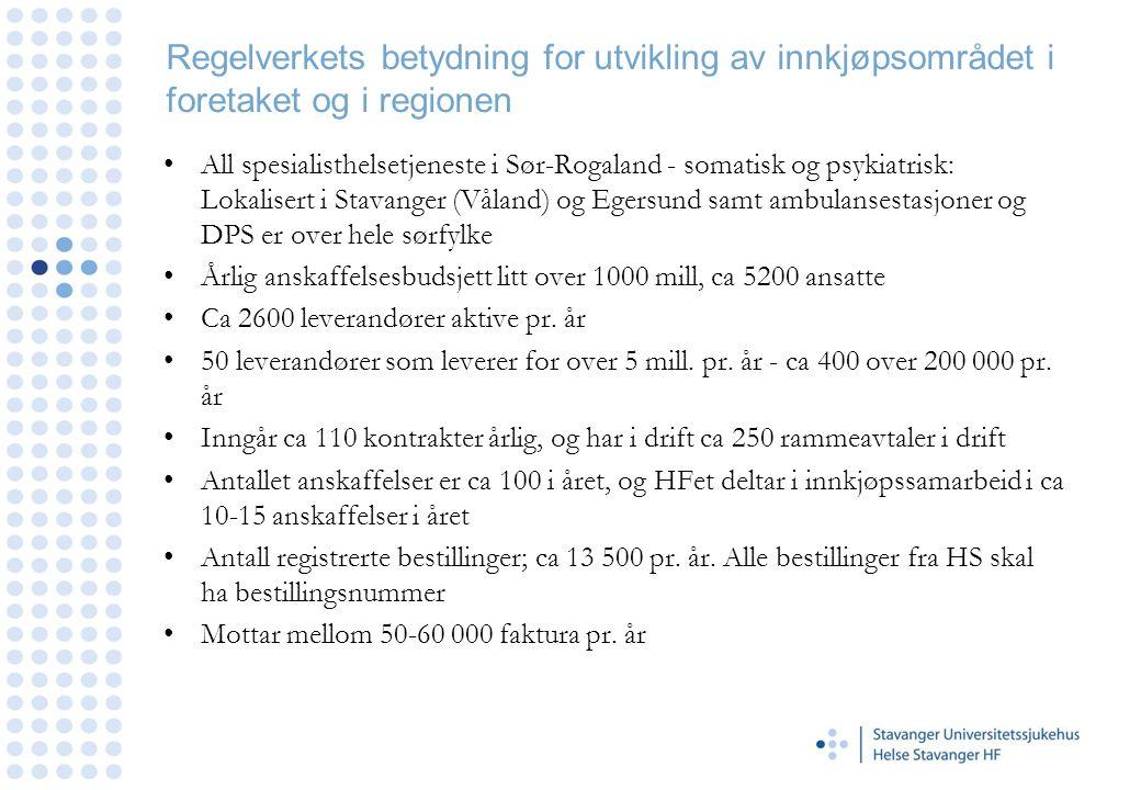 Helse Stavanger HF - Rammeavtaler herunder inngåelse og bruk av parallelle rammeavtaler •Rammeavtale med flere leverandører om leveranser av tilsvarende/overlappende produkter kalles parallelle rammeavtaler.