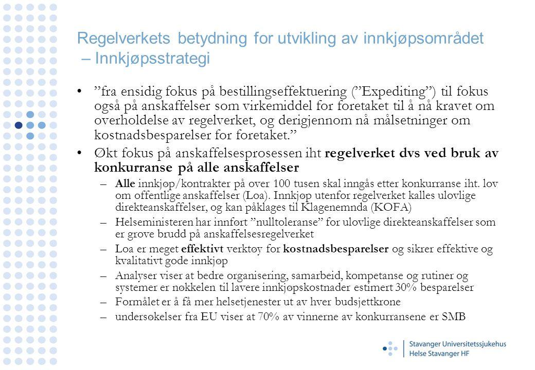 Helse Stavanger HF - Offentlig kunngjøring DOFFIN og/eller TED •Alle anskaffelser over 500 000,- kunngjøres på DOFFIN og ved anskaffelser over 1,8 mill på DOFFIN og TED (www.doffin.no).