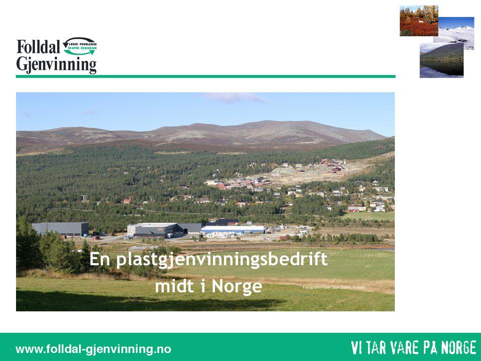 En plastgjenvinningsbedrift midt i Norge