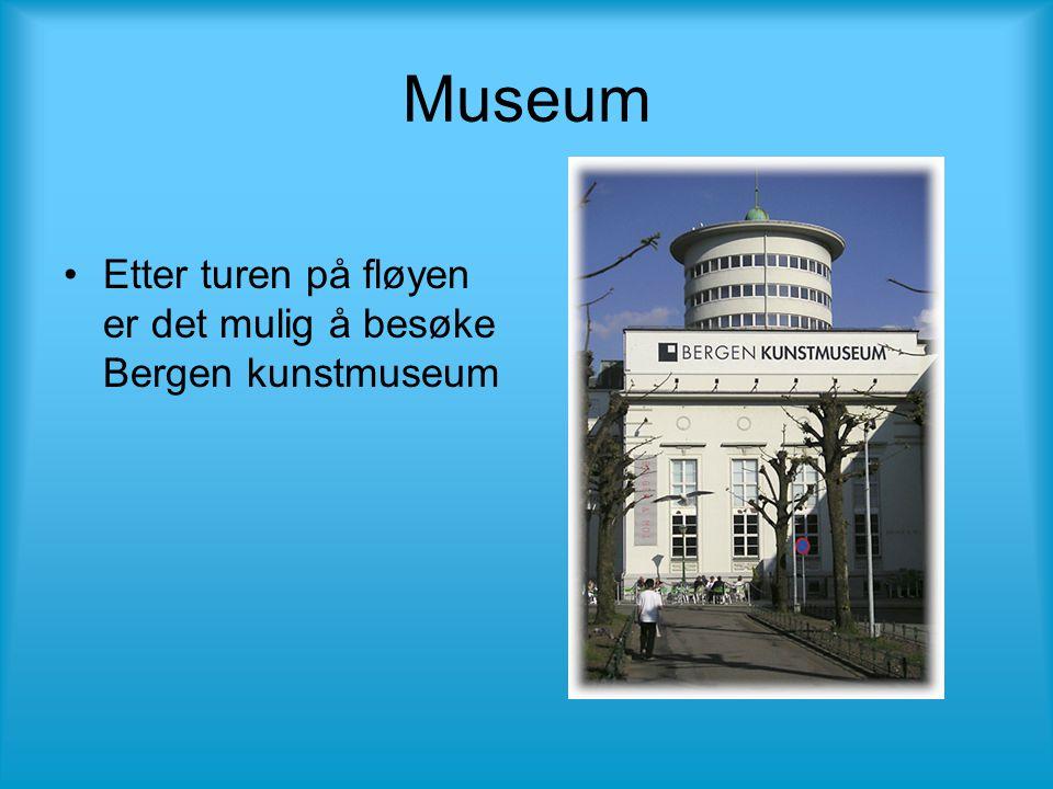 Museum •Etter turen på fløyen er det mulig å besøke Bergen kunstmuseum