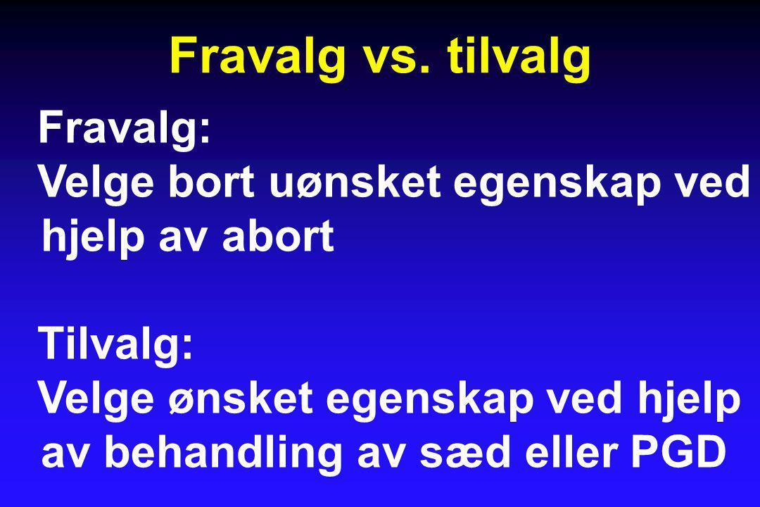Fravalg vs.