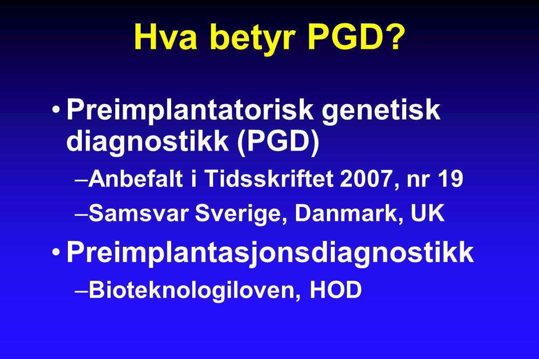 Hva betyr PGD.