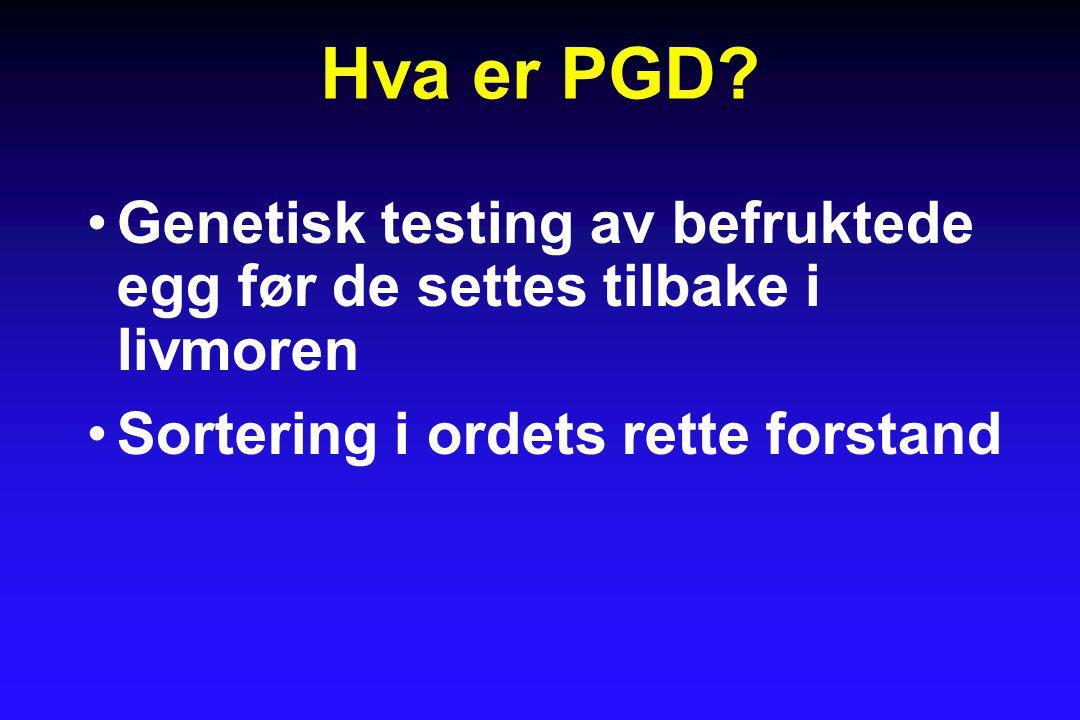 Hva er PGD.