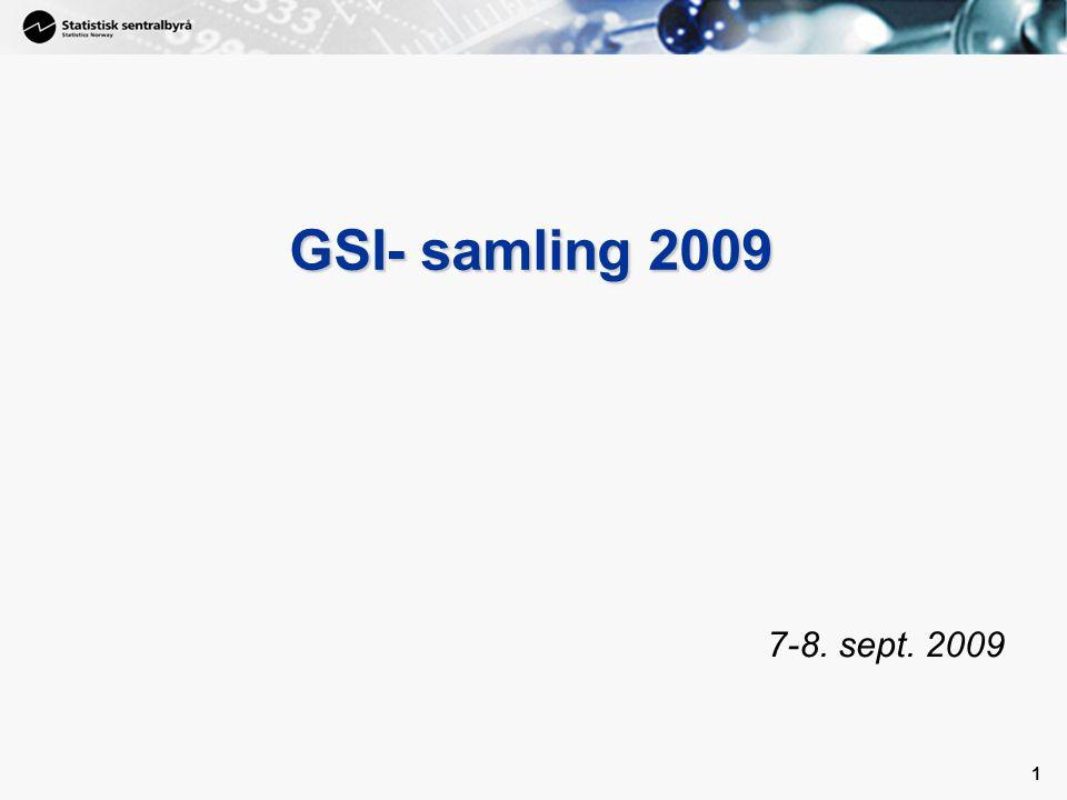 1 1 GSI- samling 2009 7-8. sept. 2009