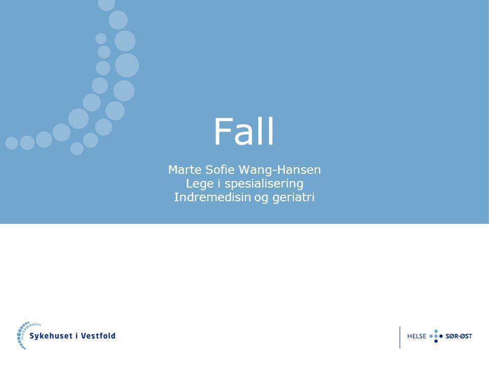 Fall Marte Sofie Wang-Hansen Lege i spesialisering Indremedisin og geriatri