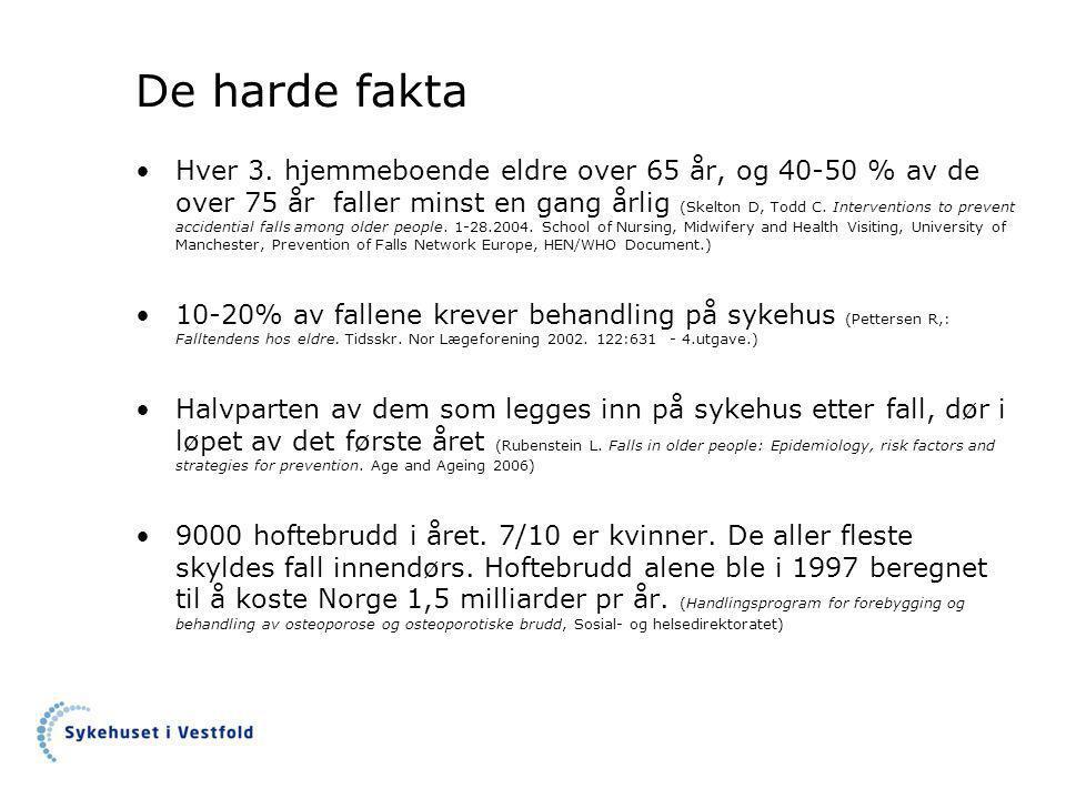 De harde fakta •Hver 3.