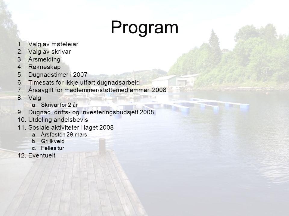 Årsmelding Årsmøte for 2006 vart halde på Eknes ungdomshus 10.februar 2007.