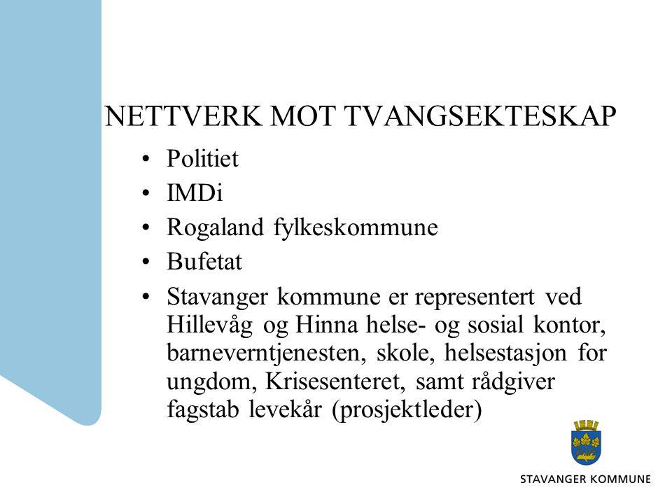 NETTVERKETS MANDAT 1.Nettverket skal foreslå kompetansehevingstiltak i hjelpeapparatet.